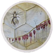 Colony Collapse Disorder Round Beach Towel