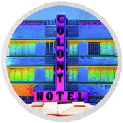 Colony Hotel Palm Round Beach Towel