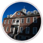 Colony House Newport Rhode Island Round Beach Towel