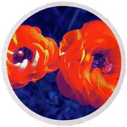 Color 12 Round Beach Towel