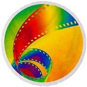Color 35mm Strip Round Beach Towel