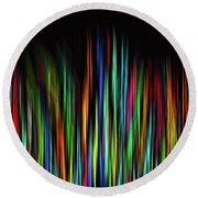 Color Abstract 3.31 Round Beach Towel