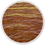Color Abstract Round Beach Towel