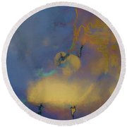 Color Abstraction Lxviii Round Beach Towel