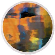 Color Abstraction Lxxii Round Beach Towel