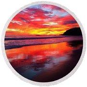 Color Blast Round Beach Towel