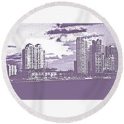 Color Blind Round Beach Towel