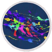 Color Chaos Round Beach Towel