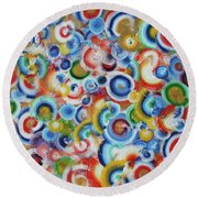 Color Circles 201810 Round Beach Towel