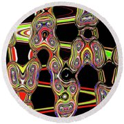 Color Circles Abstract Round Beach Towel