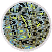 Color Combo Abstraction Round Beach Towel