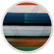 Color Decoded Round Beach Towel