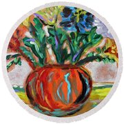 Color Everywhere Round Beach Towel