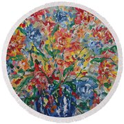 Color Expressions. Round Beach Towel