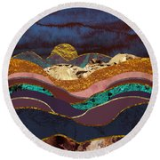 Color Fields Round Beach Towel