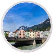 Color In Innsbruck Round Beach Towel