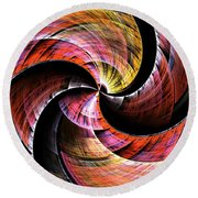 Color In Motion Round Beach Towel