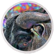 Color In My Eyes Round Beach Towel