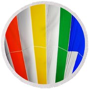 Color In The Air Round Beach Towel