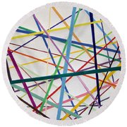 Color Lines Variety Round Beach Towel