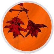 Color Me Autumn 2 Round Beach Towel
