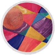 Color Me Round Beach Towel