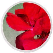 Color Me Red Round Beach Towel