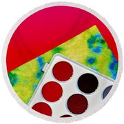Color Round Beach Towel