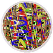 Color Mix Fun Abstract Round Beach Towel