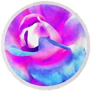 Color Of Charisma Round Beach Towel