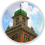 Color Of City Hall Round Beach Towel