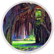 Color Of Nature Round Beach Towel