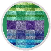 Color Of Water Round Beach Towel