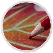 Color Pencil Drawing Round Beach Towel