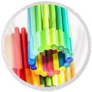 Color Pens 10 Round Beach Towel