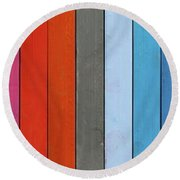 Color Range - Detail Of The Colored Pastels Round Beach Towel