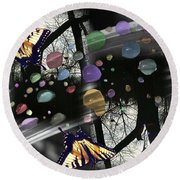Color Reflections Round Beach Towel