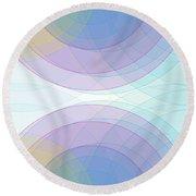 Color Semi Circle Background Horizontal Round Beach Towel