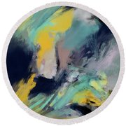 Color Space Round Beach Towel