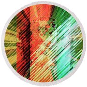 Color Stripes Round Beach Towel
