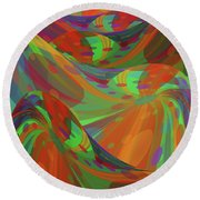 Color Swells Round Beach Towel