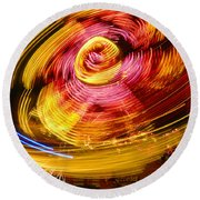 Color Twist Round Beach Towel