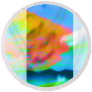 Color Wave Round Beach Towel