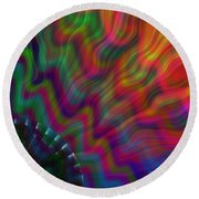 Color Waves Round Beach Towel