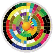 Color Wheel Round Beach Towel