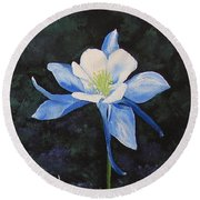 Colorado Blue Round Beach Towel