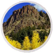 Colorado Butte Round Beach Towel