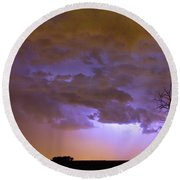 Colorado Cloud To Cloud Lightning Thunderstorm 27g Round Beach Towel