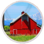 Colorado Country Fine Art Print Round Beach Towel