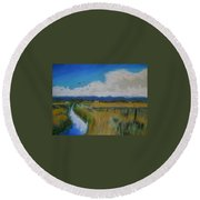 Colorado Creek Round Beach Towel